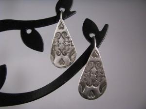 PMC Lace Teardrop Earrings