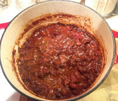 Spicy Beef & Andouille Chili