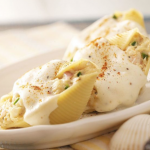 seafood stuffed shells with bechamel